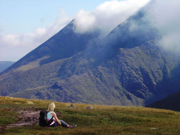 walking on carrauntoohil 1